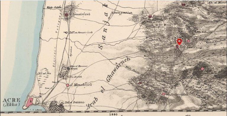 Kfar yasi 1880 map